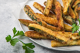 Crispy Zucchini Fries With Garlic Yogurt Sause